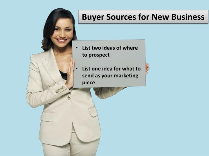 Buyer Sources for New Business