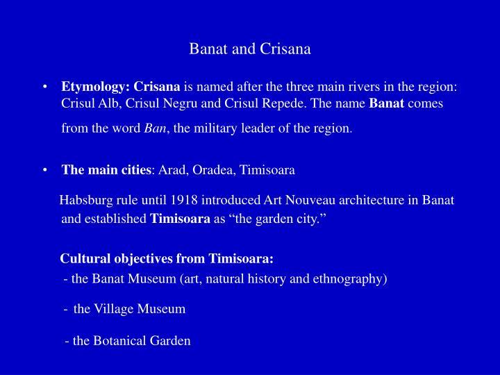 Banat and Crisana