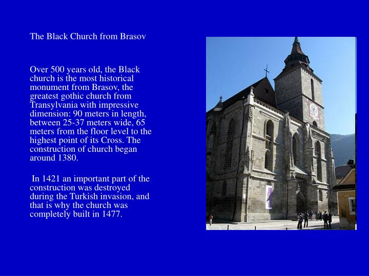 The Black Church from Brasov
