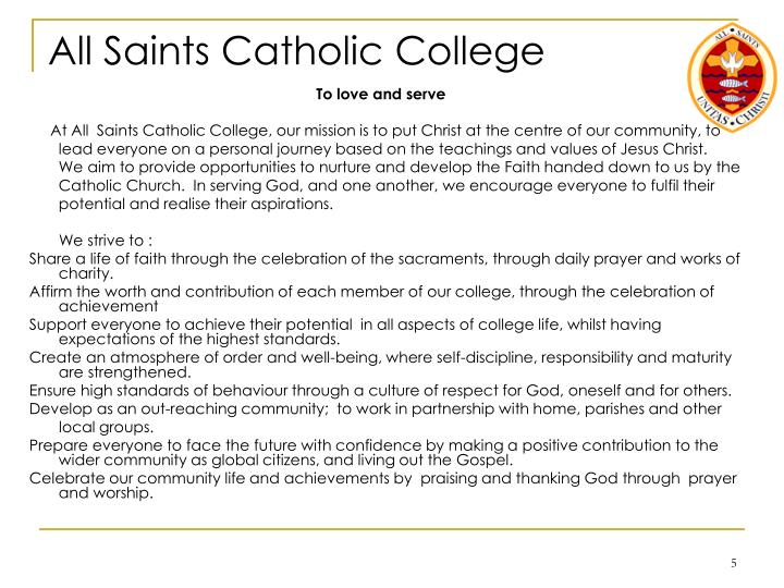 All Saints Catholic College