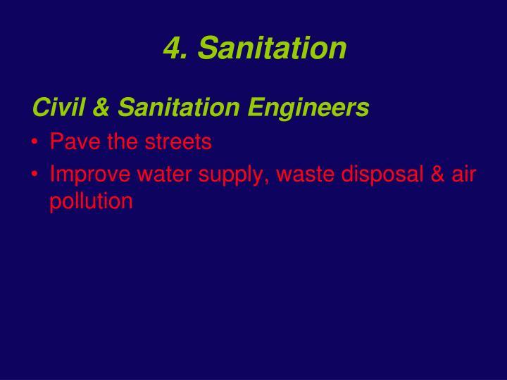 4. Sanitation