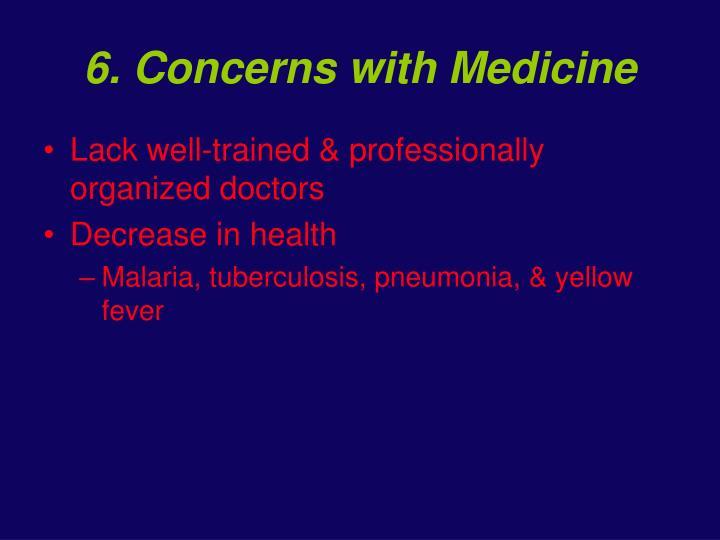6. Concerns with Medicine