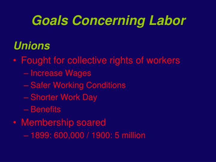 Goals Concerning Labor