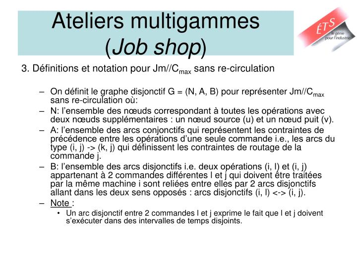 Ateliers multigammes