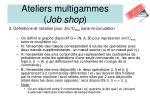 ateliers multigammes job shop1