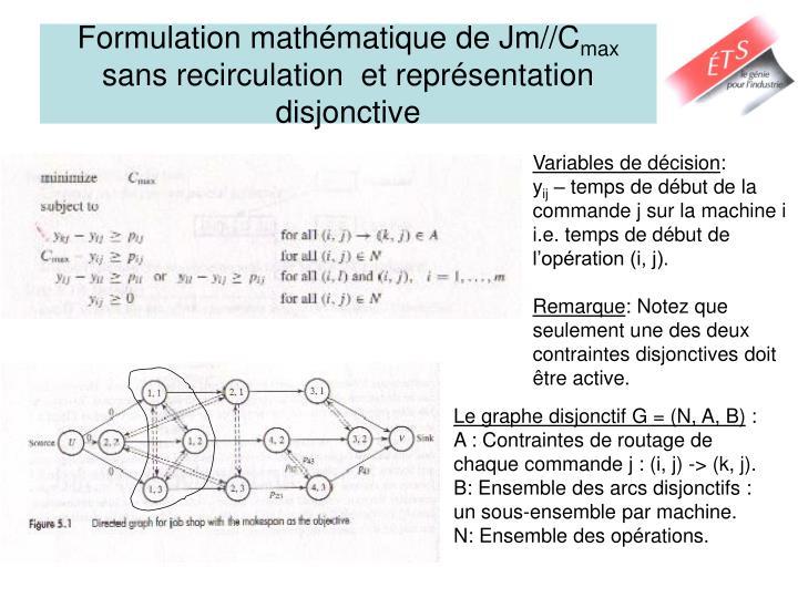 Formulation mathématique de Jm//C