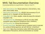 mhs tab documentation overview charting responsibilities for assigned patients where do i chart it