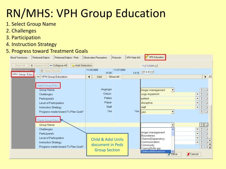RN/MHS: VPH Group Education