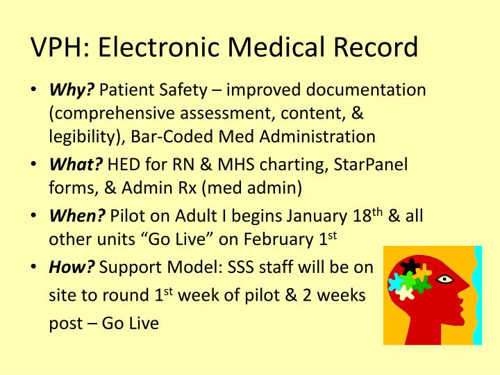 VPH: Electronic Medical Record