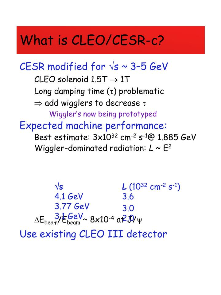 What is CLEO/CESR-c?