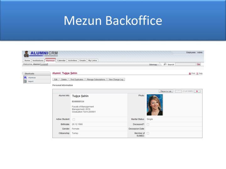 Mezun Backoffice