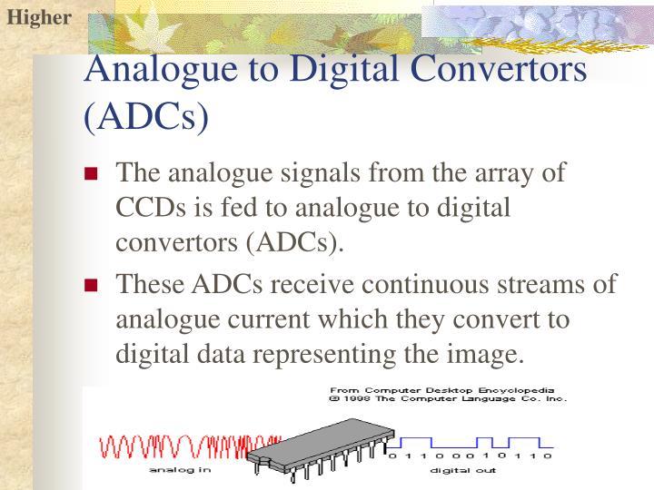 Analogue to Digital Convertors (ADCs)