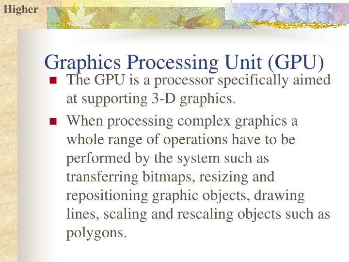 Graphics Processing Unit (GPU)