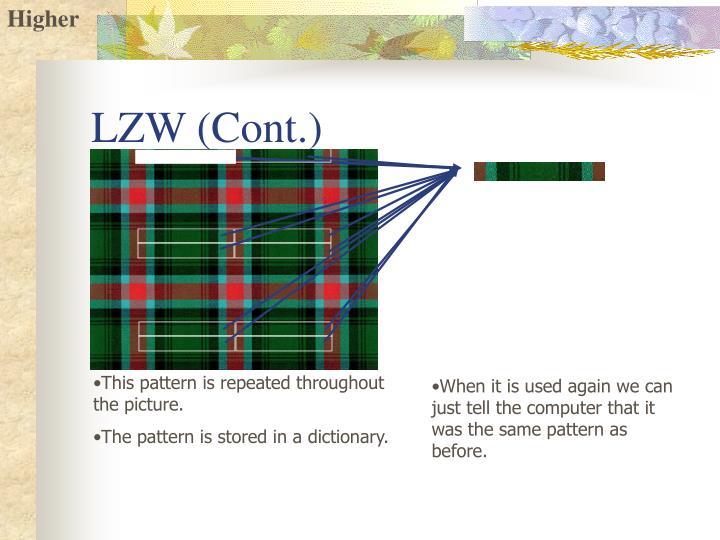 LZW (Cont.)