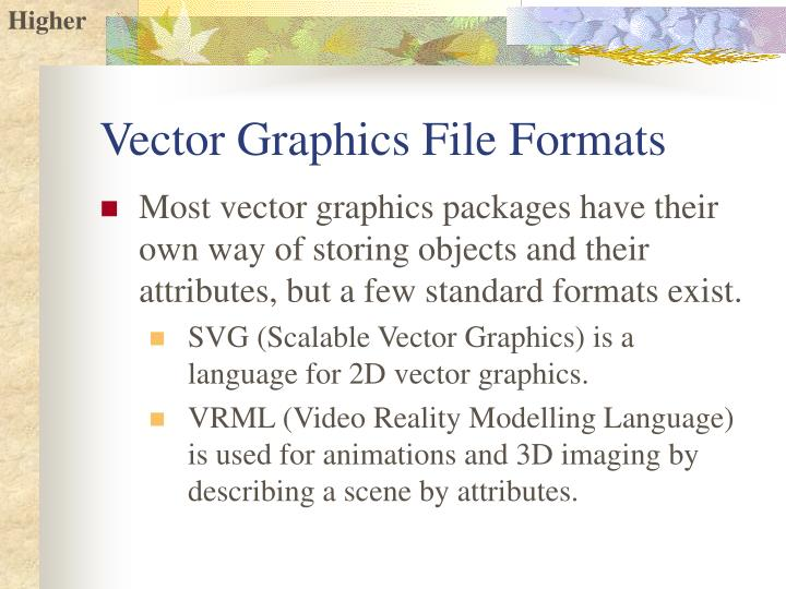 Vector Graphics File Formats