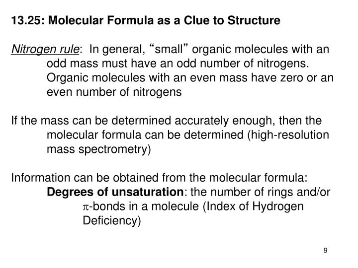 13.25: Molecular Formula as a Clue to Structure