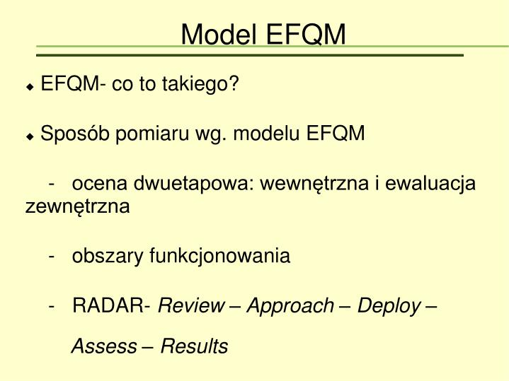 EFQM- co to takiego?