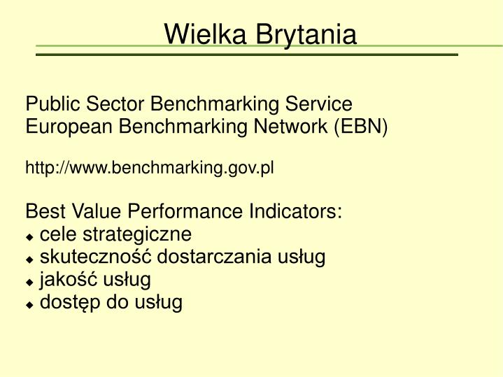 Public Sector Benchmarking Service