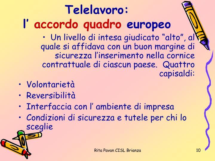 Telelavoro: