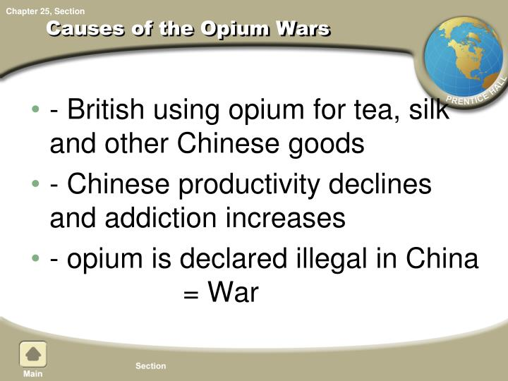Causes of the Opium Wars