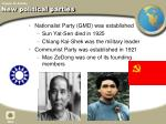 new political parties
