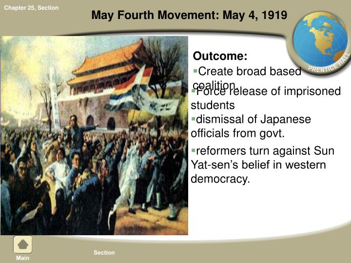May Fourth Movement: May 4, 1919