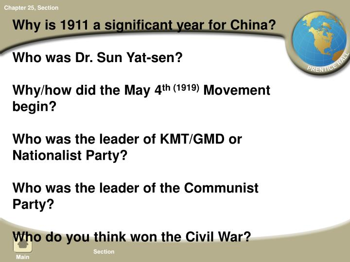 Why is 1911 a significant year for China?