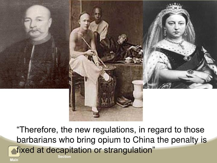 """Therefore, the new regulations, in regard to those"