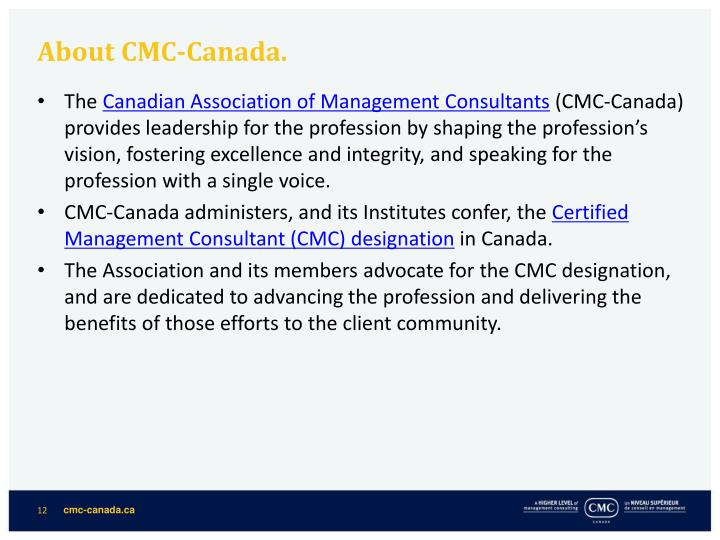 About CMC-Canada.