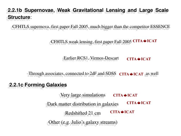 2.2.1b Supernovae, Weak Gravitational Lensing and Large Scale Structure