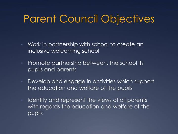 Parent Council Objectives