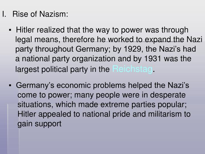 Rise of Nazism: