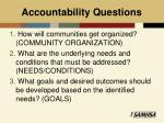 accountability questions