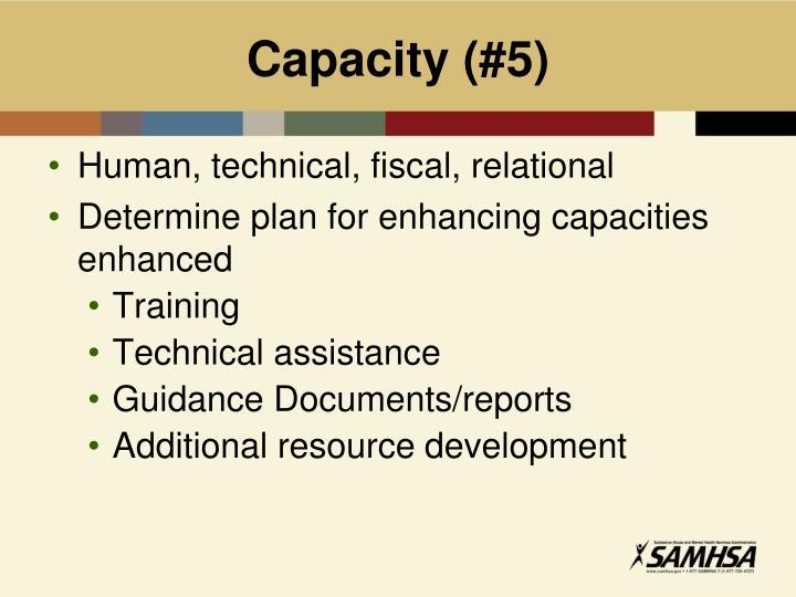 Capacity (#5)