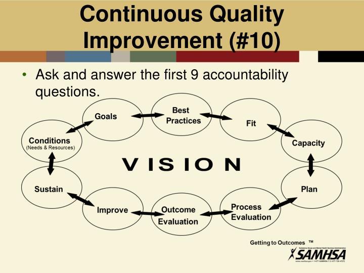 Continuous Quality Improvement (#10)