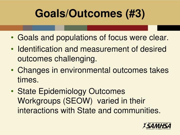 Goals/Outcomes (#3)