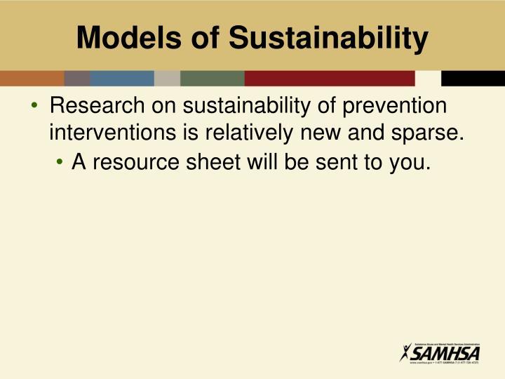 Models of Sustainability