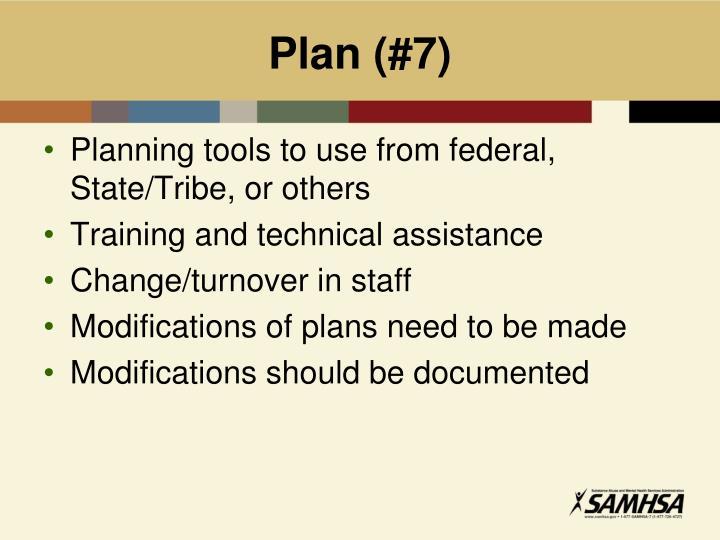 Plan (#7)