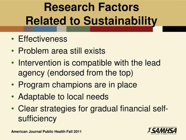 Research Factors