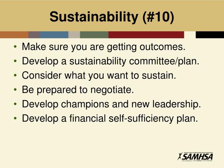 Sustainability (#10)