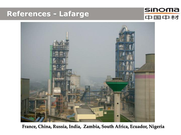 References - Lafarge
