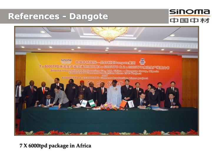 References - Dangote