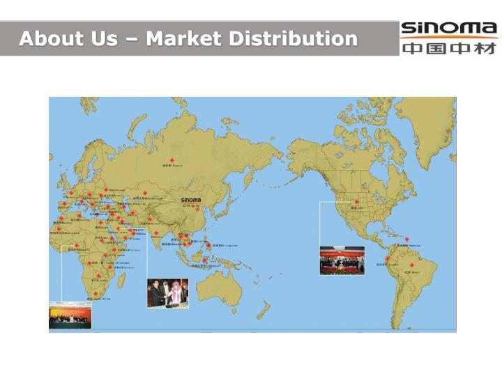 About Us – Market Distribution