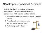 alta response to market demands2