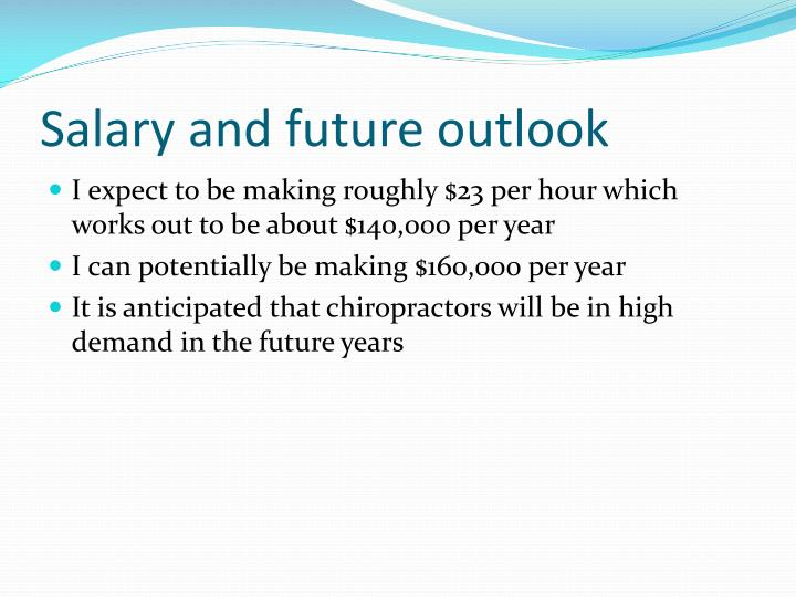 Salary and future outlook