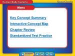 chapter review menu