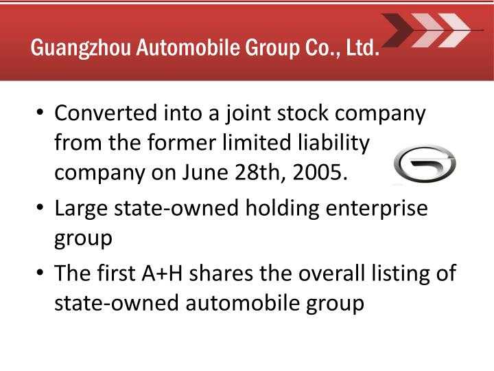 Guangzhou Automobile Group Co., Ltd.