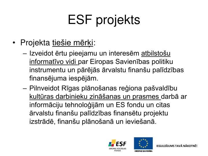 ESF projekts