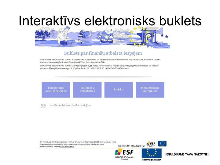 Interaktīvs elektronisks buklets