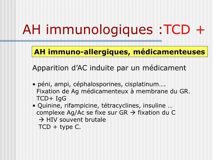 AH immunologiques :